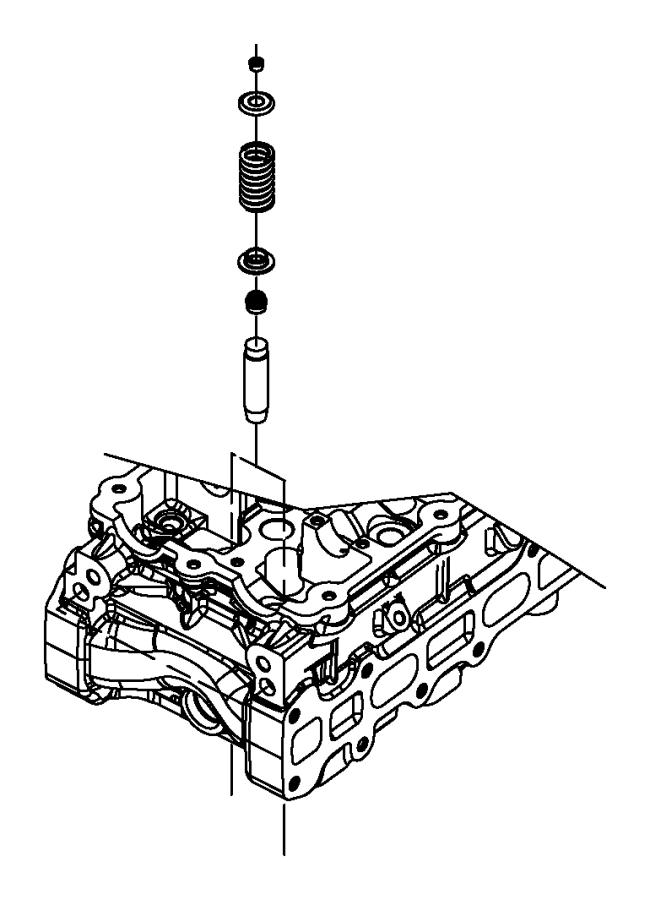 mercury sable engine valve guide  escape  mariner  five