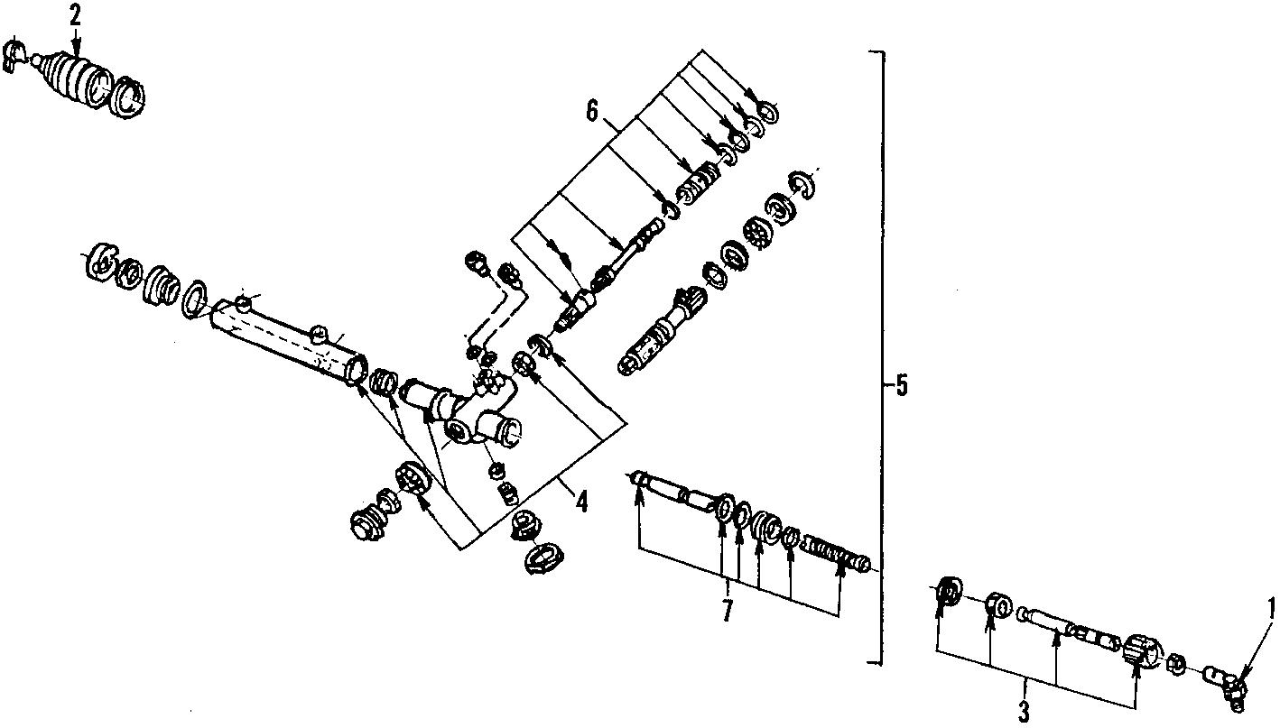 Mercury Lynx Steering Gear Input Shaft Bearing  Mark  Power  Vii