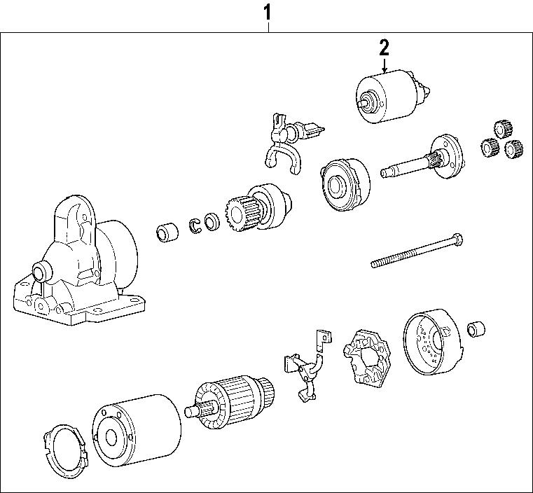 Lincoln Zephyr Starter Motor