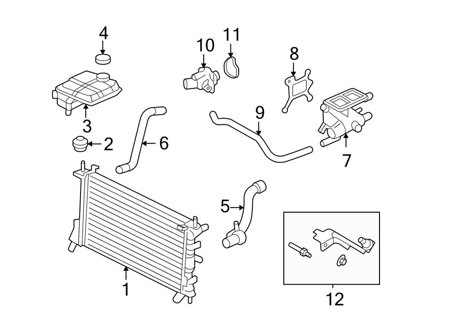 Ford Focus Radiator Insulator  2 0 Liter  Dohc Engine  2 0