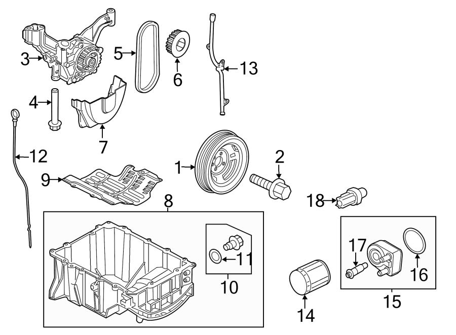 Ford Focus Engine Timing Crankshaft Sprocket  1 0 Liter  1 0 Liter  Manual Trans