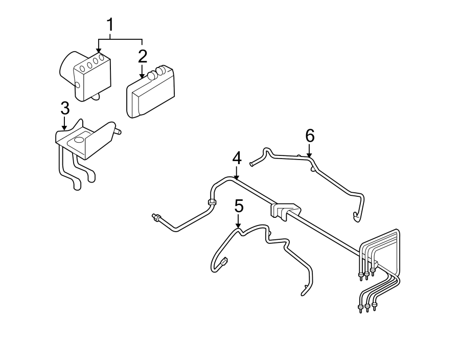 Ford Taurus Abs Control Module Bracket  Abs Modulator