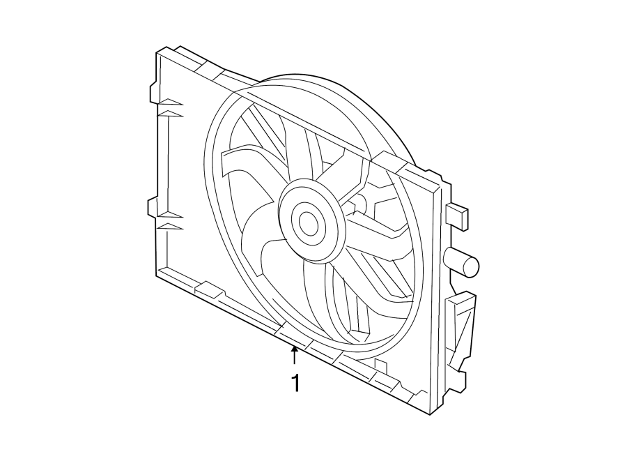 Lincoln Zephyr Engine Cooling Fan Assembly