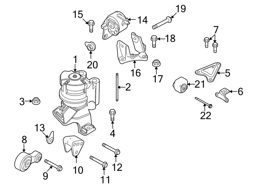 Lincoln Mkz Engine Mount Nut  Front   3 5 Liter