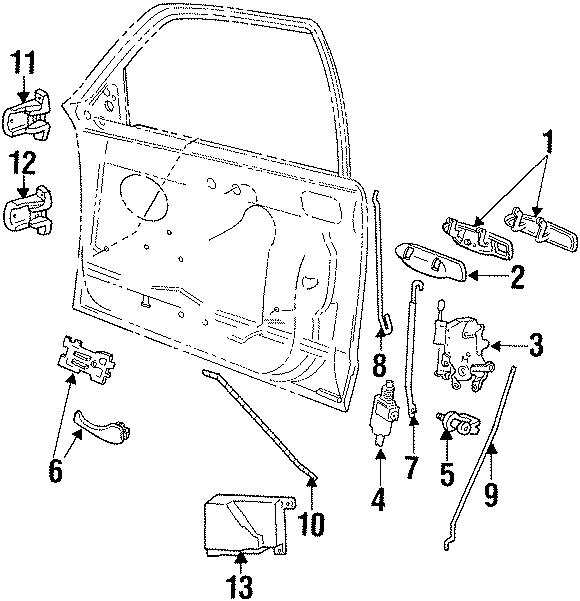 Mercury Grand Marquis Interior Door Handle