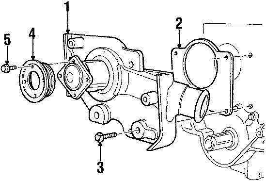 Mercury Mystique Engine Water Pump Gasket. 2.0 LITER. 2.0 ...