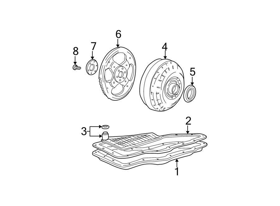 Mercury Sable Automatic Transmission Oil Pump Seal  3 0
