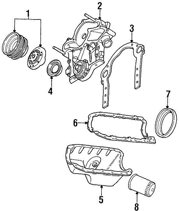 Mercury Sable Engine Oil Pan Gasket  Rear   3 8 Liter  4 2