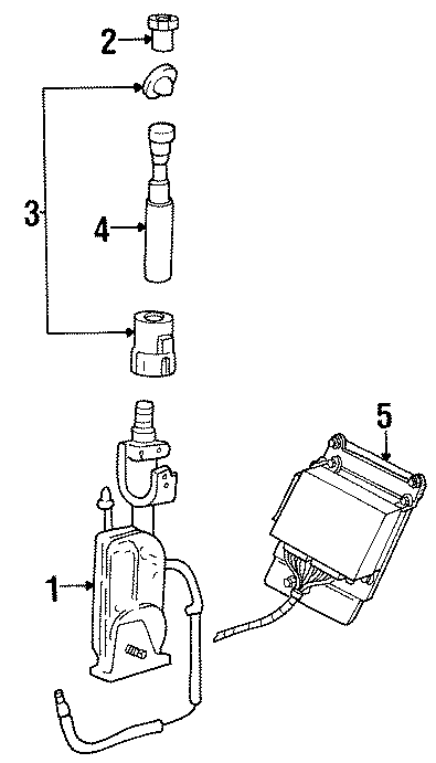 Mercury Sable Radio Antenna Mast  Power  Wagon  Station