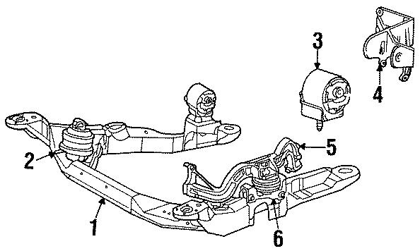 Mercury Sable Engine Mount  Rear  Dohc  Liter
