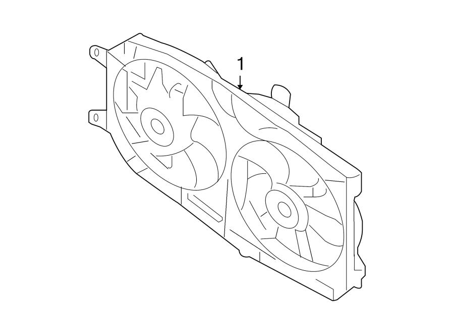 Mercury Montego Engine Cooling Fan Assembly