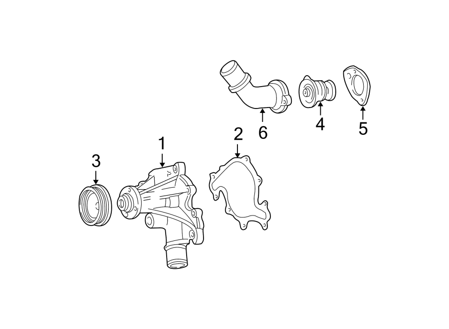 Ford F-150 Engine Coolant Thermostat Gasket. Engine ...