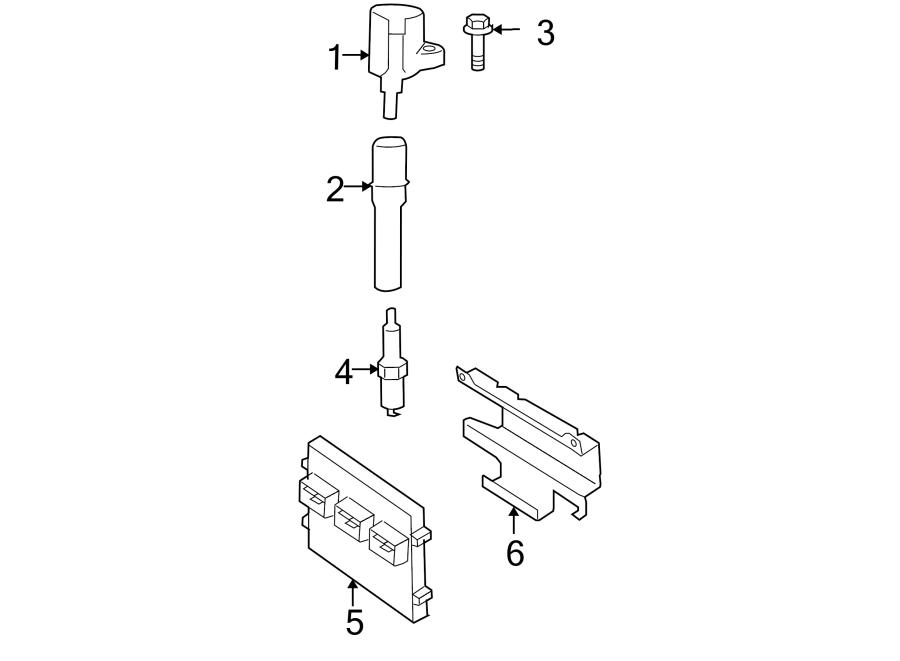 Ford F-150 Engine Control Module  4 6  5 4 Liter  4 6 Liter  Federal  2wd