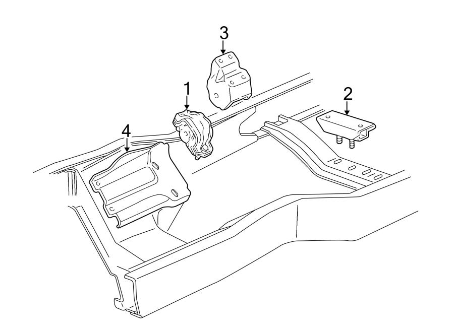 Ford Econoline Super Duty Manual Transmission Mount  Liter
