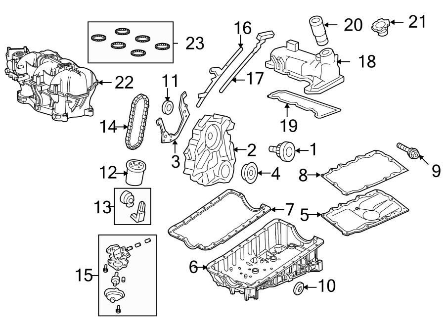 Ford Ranger Engine Crankshaft Seal  Liter  Head  Bearings