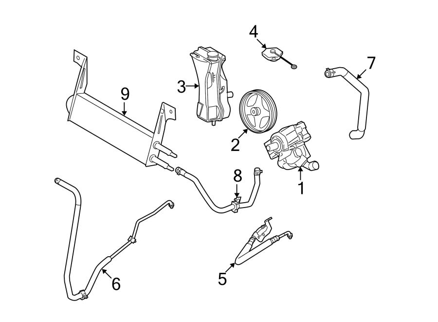 Ford F-450 Super Duty Power Steering Pressure Hose
