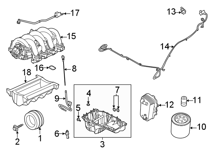 Ford F-250 Super Duty Engine Intake Manifold  7 3 Liter
