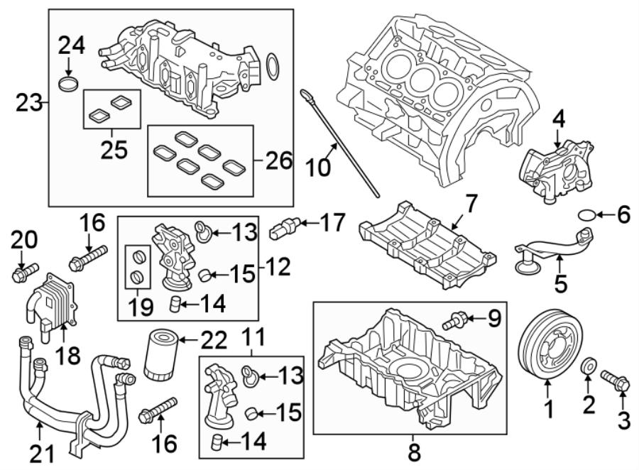 Ford Explorer Hose  Cooler  Engine  Coolant  Line  Oil Assembly  3 5 Liter Turbo