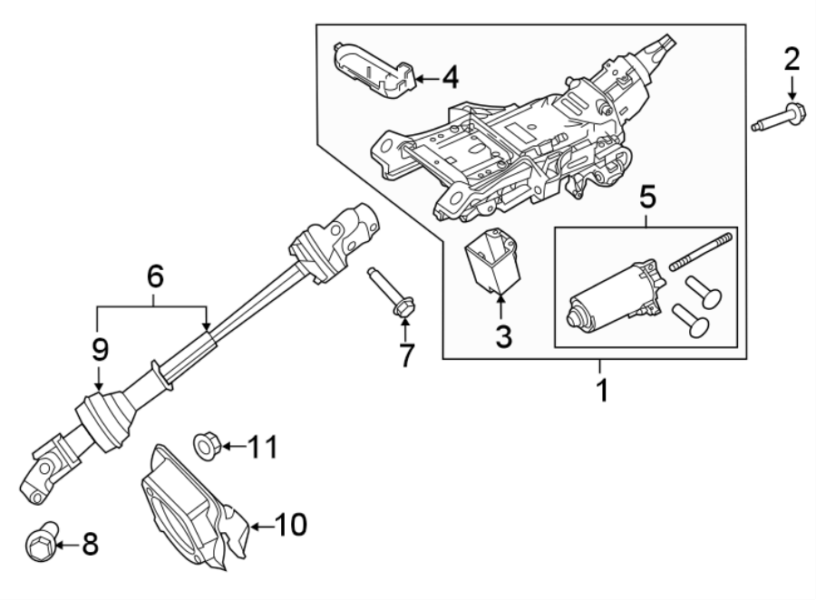 Ford Explorer Steering Column  Power Tilt  Telescope
