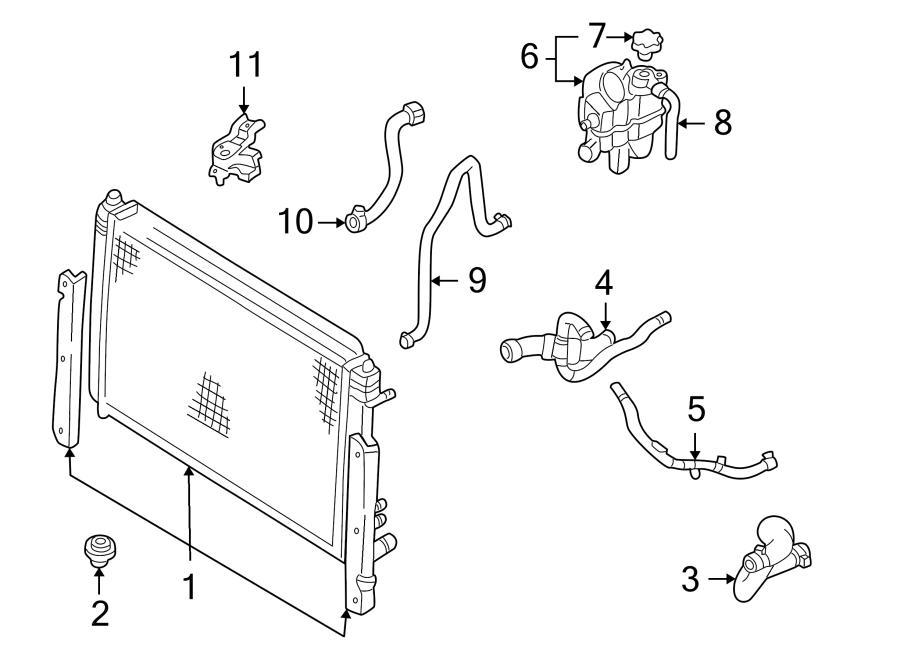 Ford Escape Radiator Coolant Hose  2 0 Liter  Escape  Mariner  2 0l