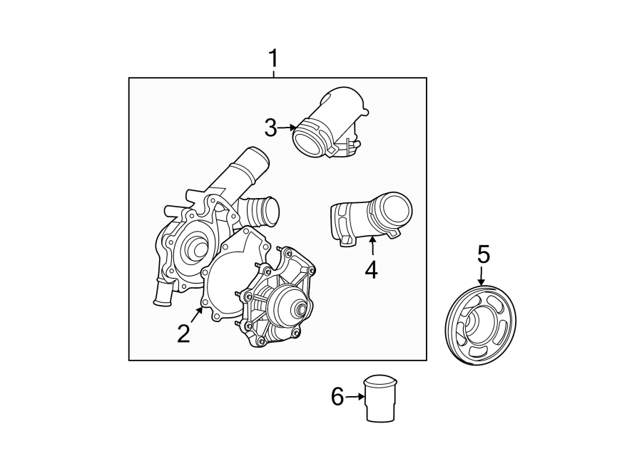 Ford Escape Engine Water Pump  Cooling  Make