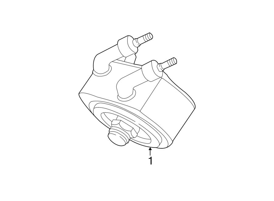 ford escape engine oil cooler  liter