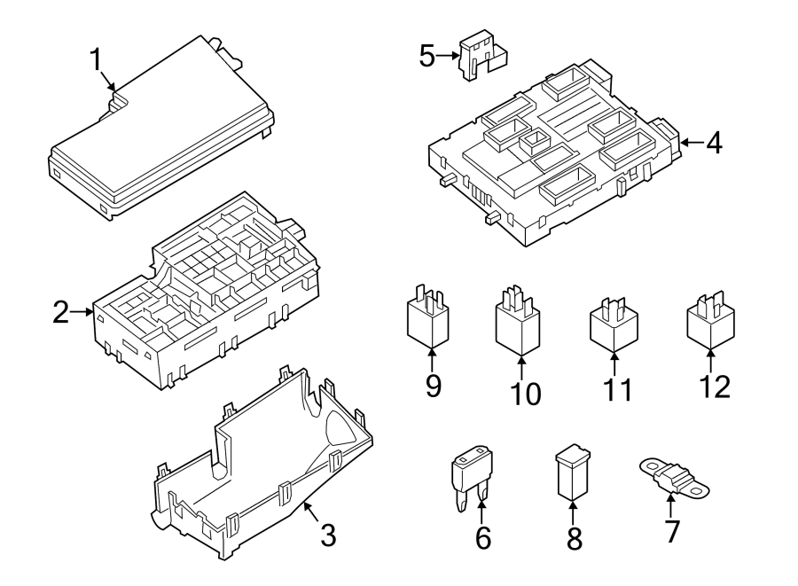 Ford Escape Fuse  Junction  And  Relay  Panel