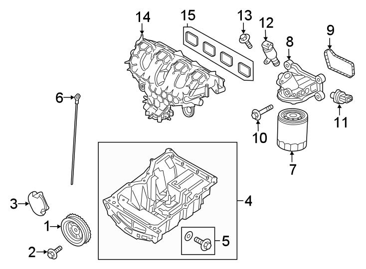 Ford Edge Engine Intake Manifold  2 0 Liter  2 0 Liter
