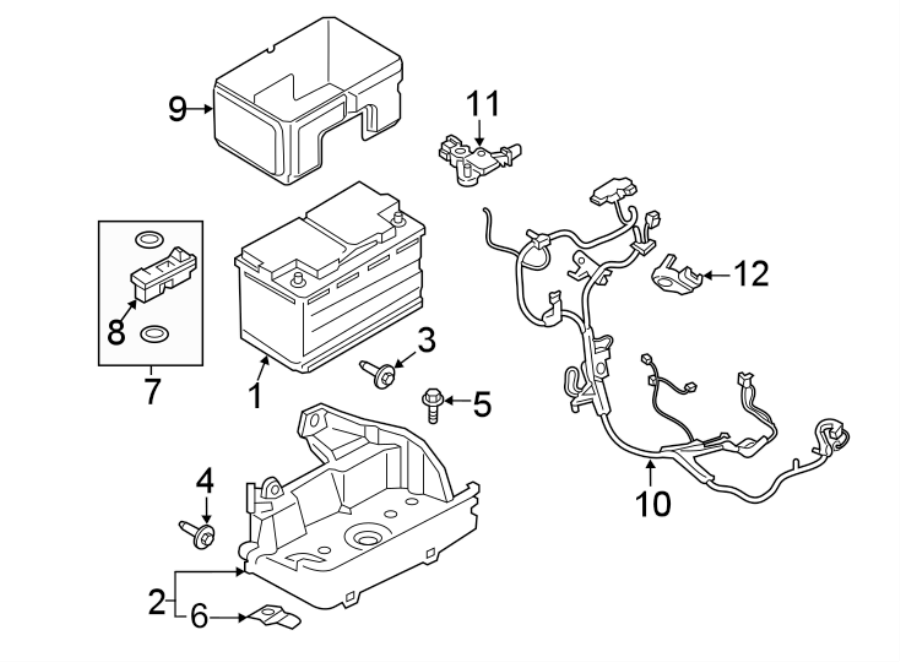 Ford Expedition Cable  Battery  Positive  Assembly
