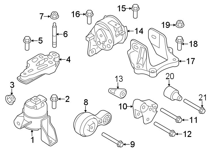 Mercury Milan Engine Mount  Trans  Manual  Bearings