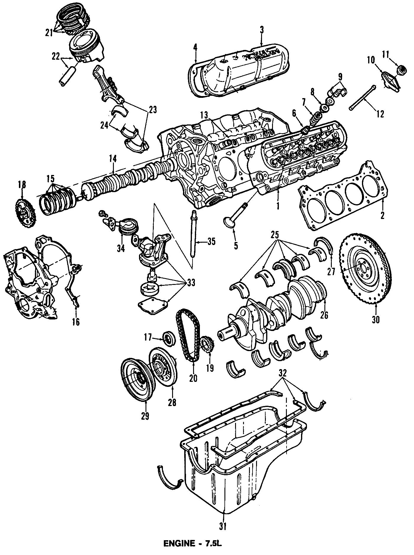 Ford E-350 Econoline Engine Crankshaft Seal (Rear). 7.5 ...