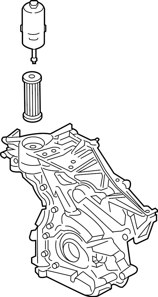 Ford Edge Engine Timing Cover  2 7 Liter  3 0 Liter
