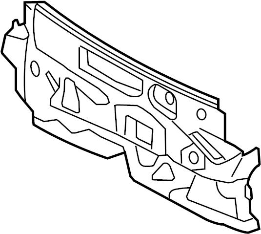Mercury Milan Insulator  Dash  Outer  Upper  Upper  W  2 5